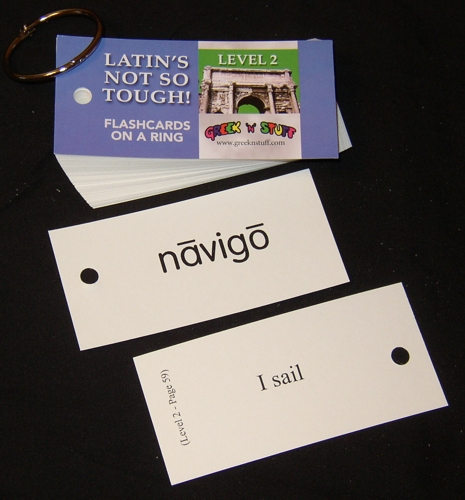 Latin Level 2 Flashcards on a Ring