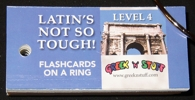 Latin Level 4 Flashcards on a Ring