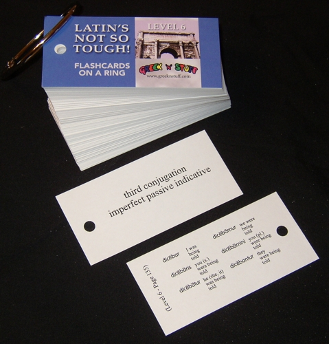 Latin Level 6 Flashcards on a Ring